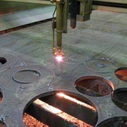Производство элементов трубопровода. Заготвки для фланцев.