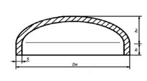 Конструкция и размеры днищ ГОСТ 6533-78