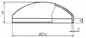 Конструкция и размеры днищ ТУ 102-488-05
