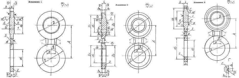 Конструкция и размеры поворотных заглушек АТК 26-18-5-93