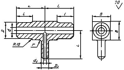 Конструкция и размеры тройников ГОСТ 22822-83