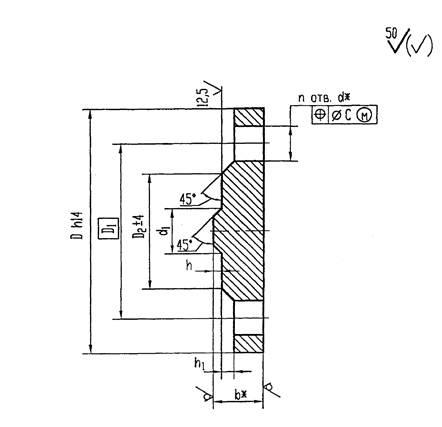 Конструкция и размеры заглушек ОСТ 34-10-428