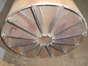 Заглушка плоская с ребрами Ду 250 ОСТ 34.10.759-97