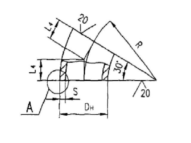 Схема и чертеж отводов 30 градусов крутоизогнутых ОСТ 34.10.699-97